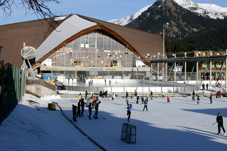 Die Vaillant-Arena in Davos.