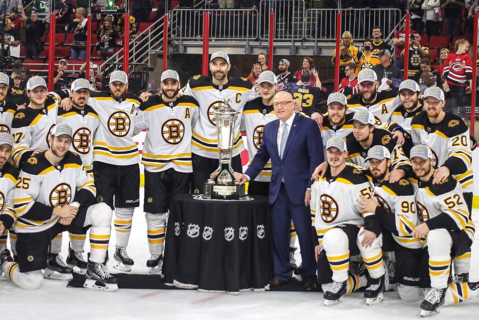Eastern Conference Sieger Boston Bruins.