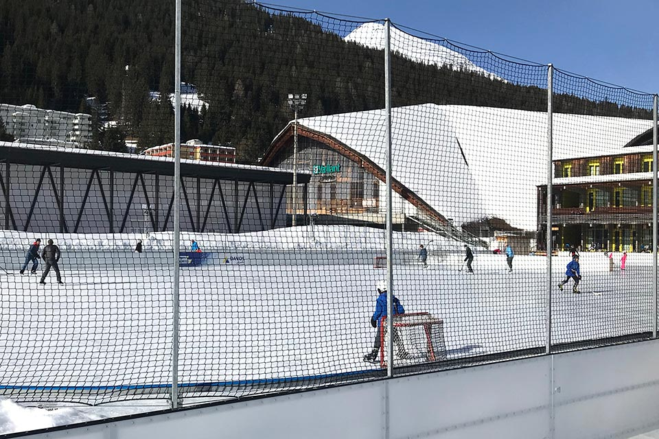 Die Vaillant Arena in Davos.