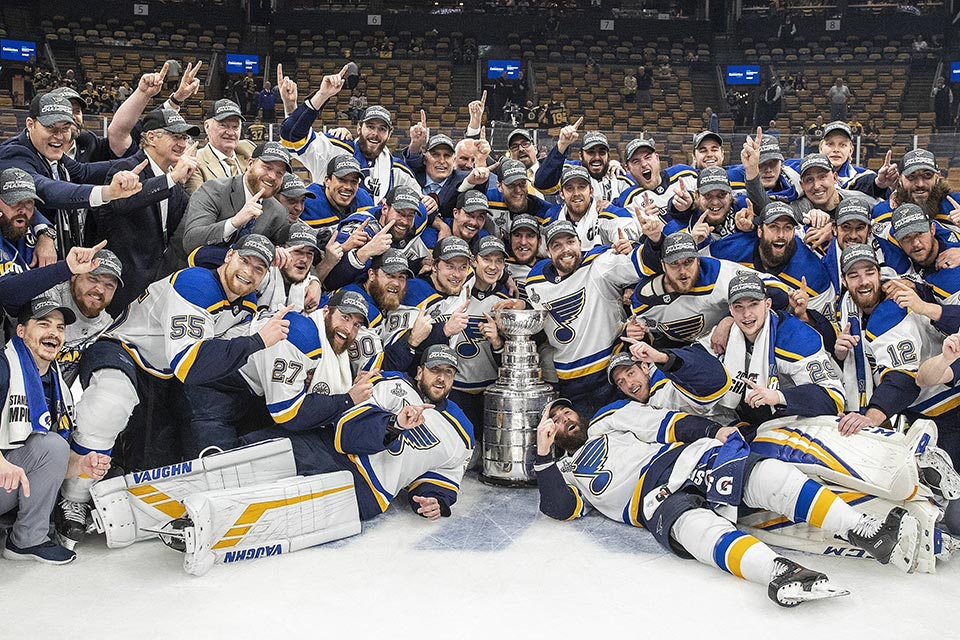 Stanley Cup Sieger St. Louis Blues.